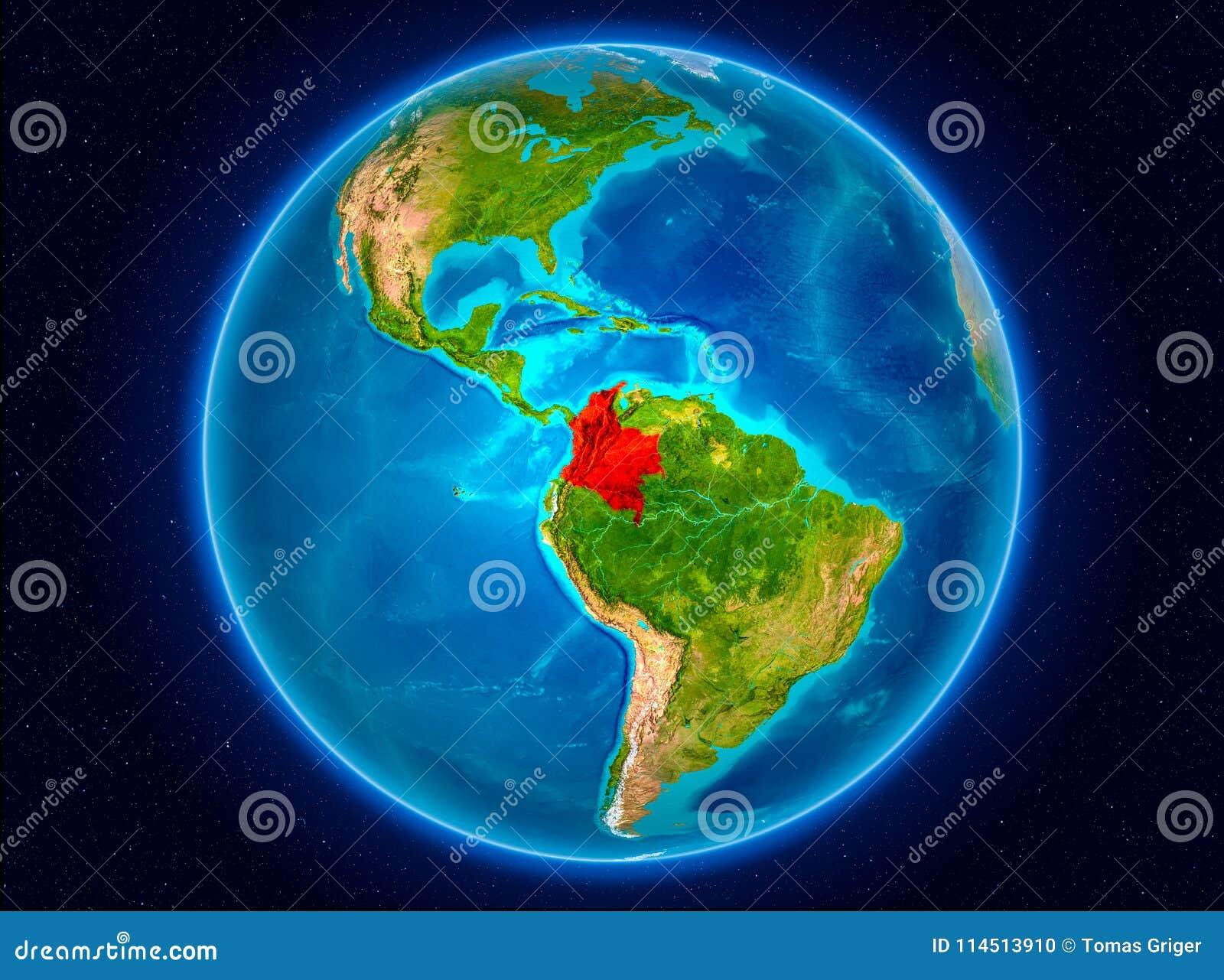 Colômbia na terra