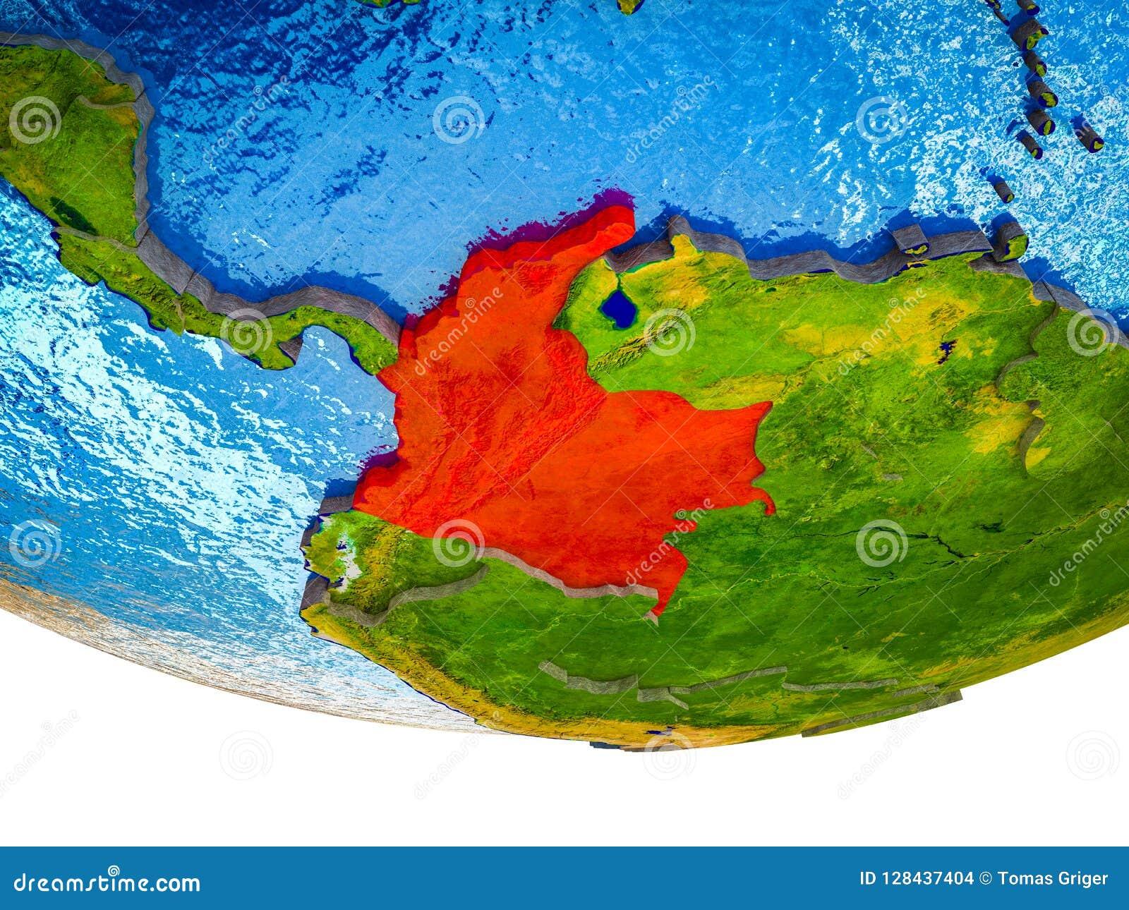 Colômbia na terra 3D