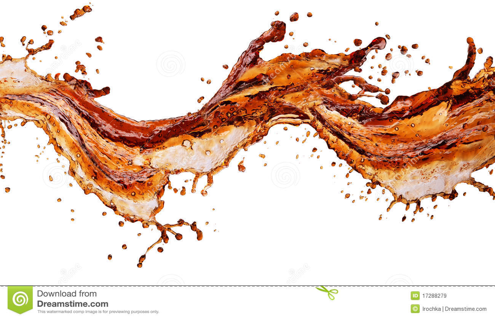 Cola isolerad färgstänk
