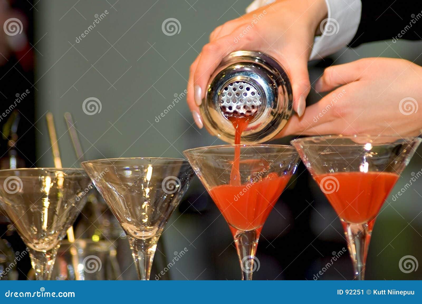 Colada de las bebidas