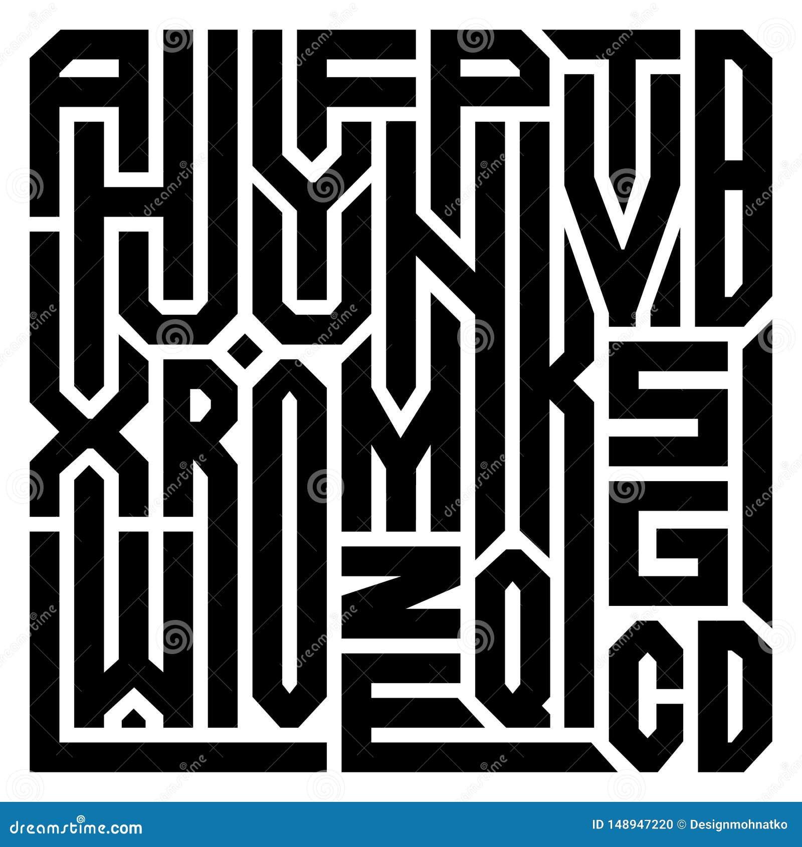 Colagem abstrata das letras do alfabeto de ? Z