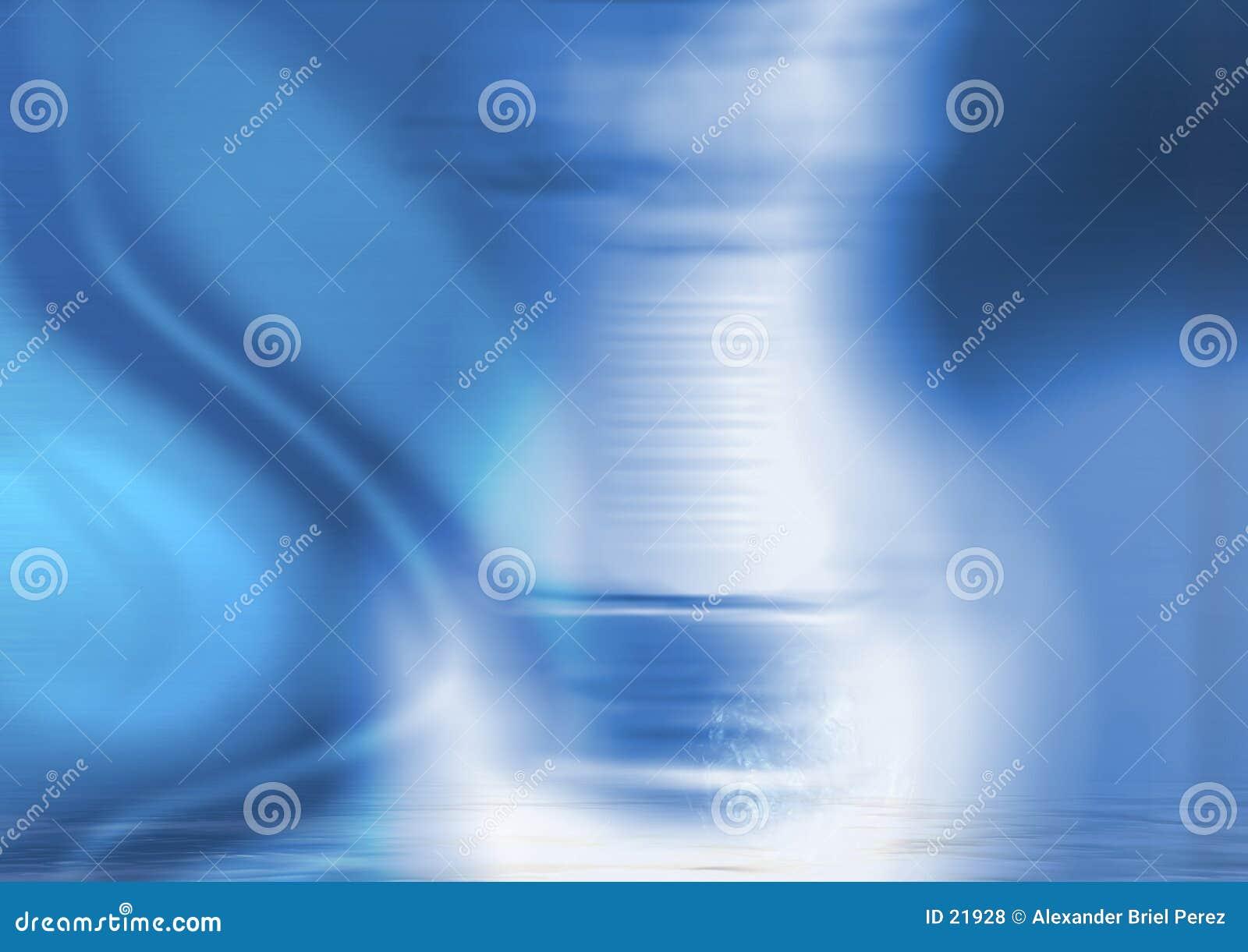 Colagem azul