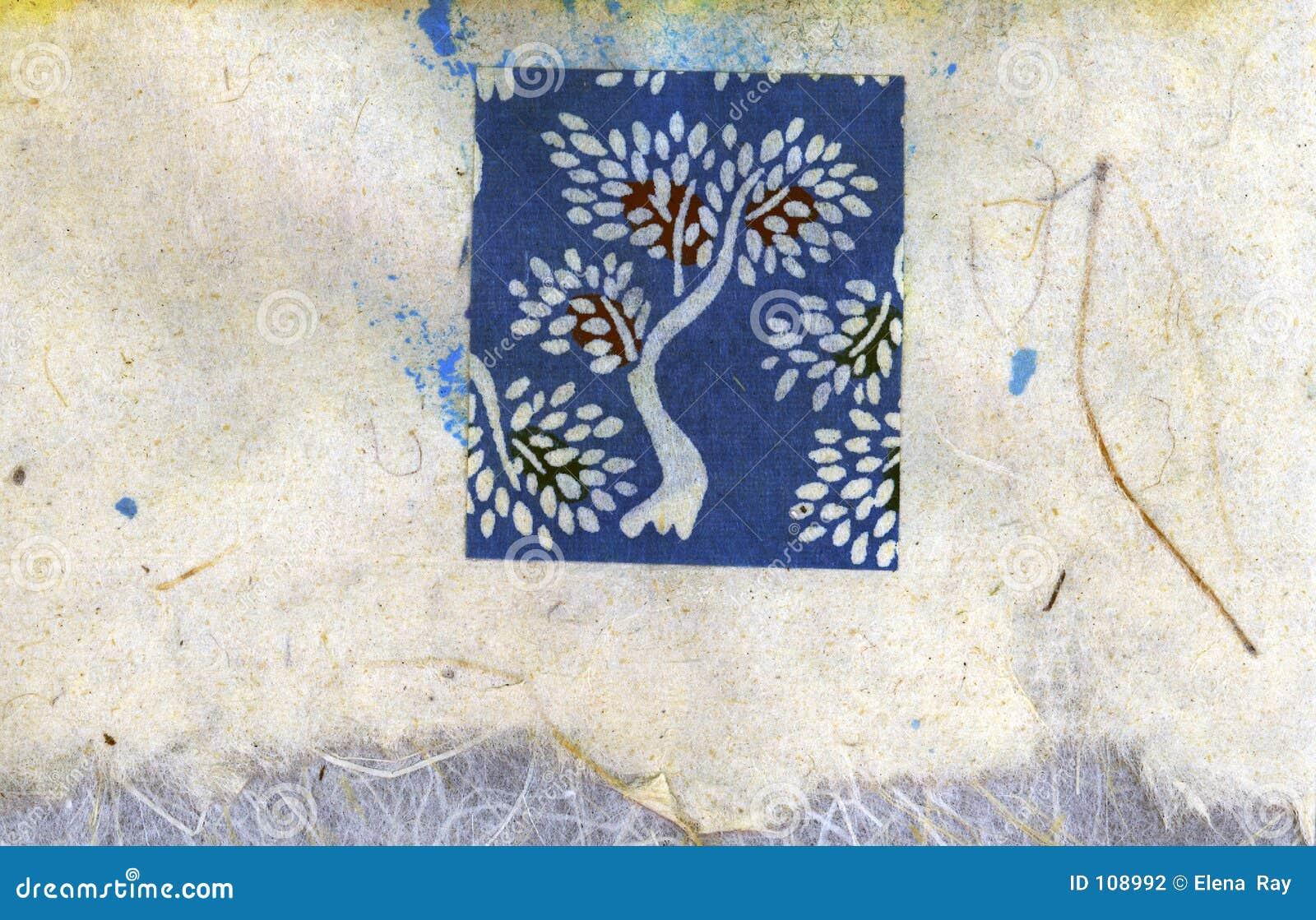 Colagem da árvore