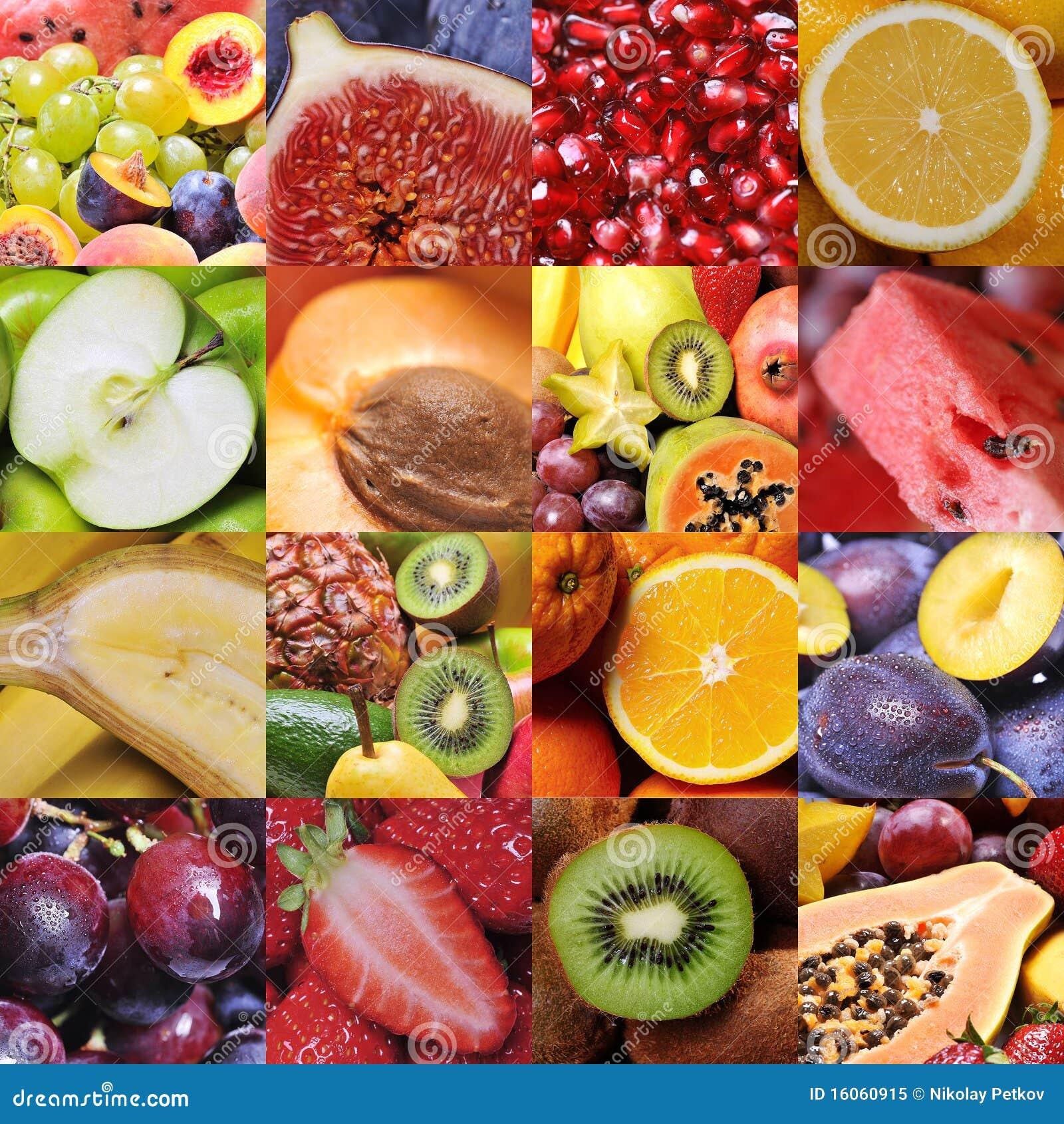 Colagem da fruta