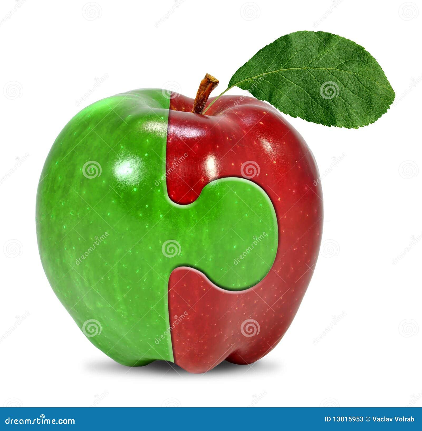 Colagem da maçã