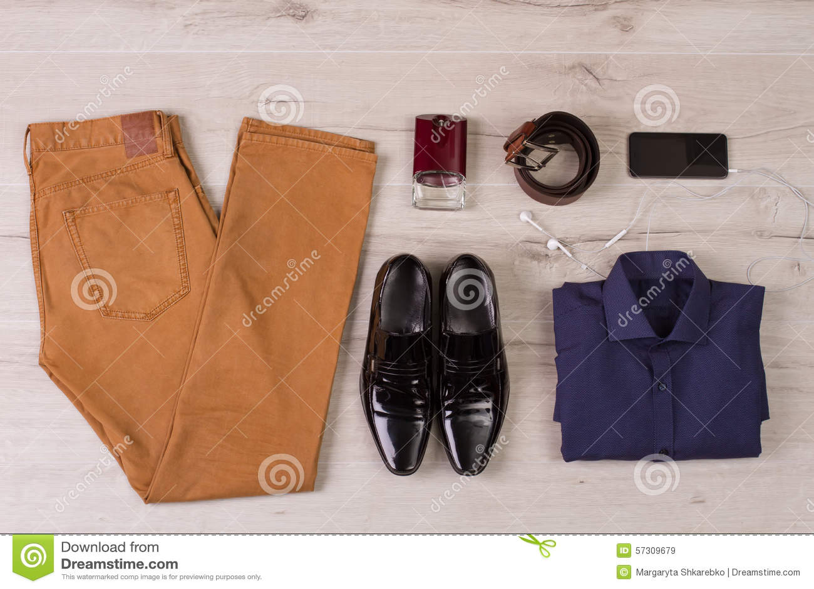 Colagem da roupa de homens modernos