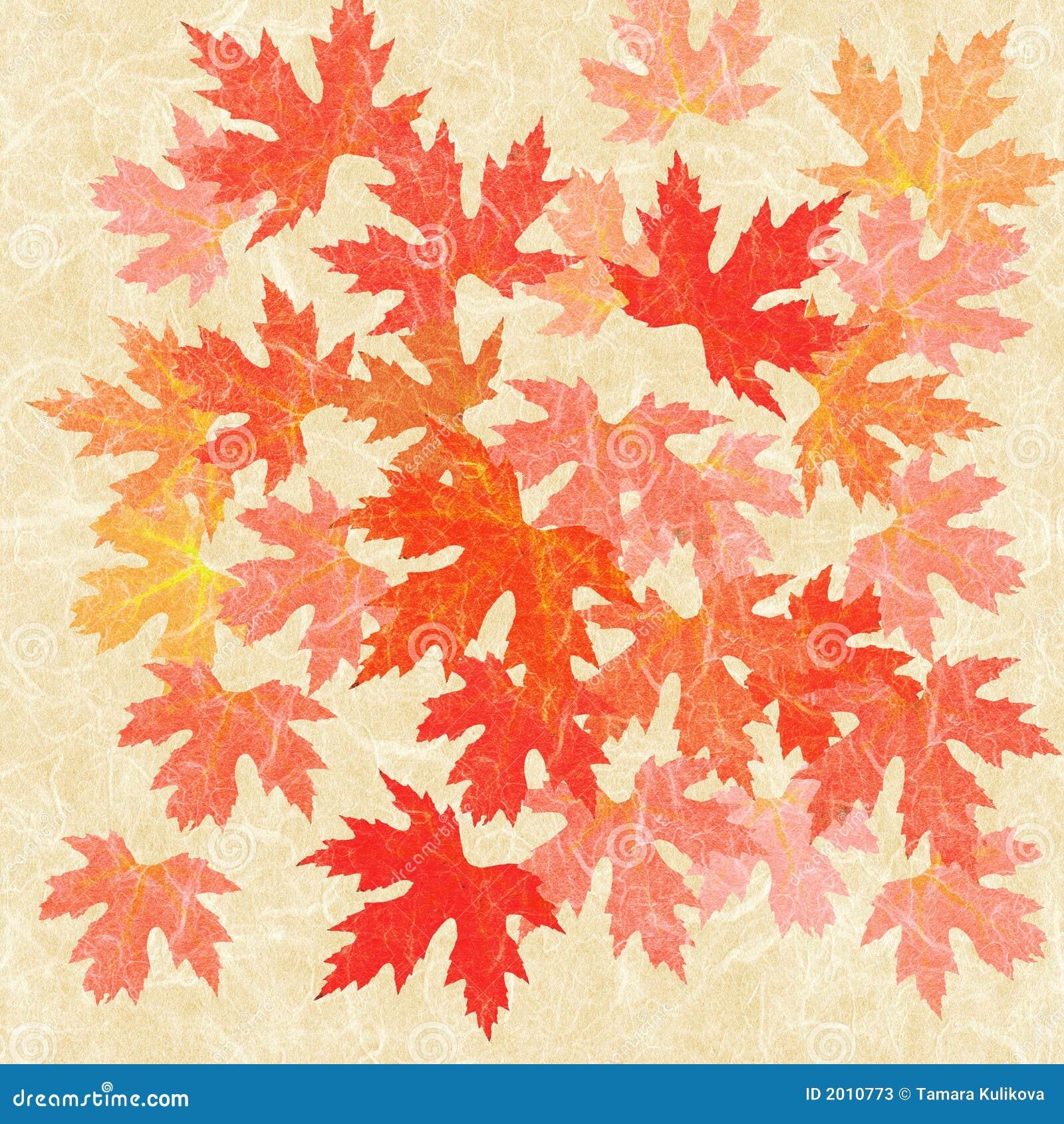 Colagem das folhas de outono