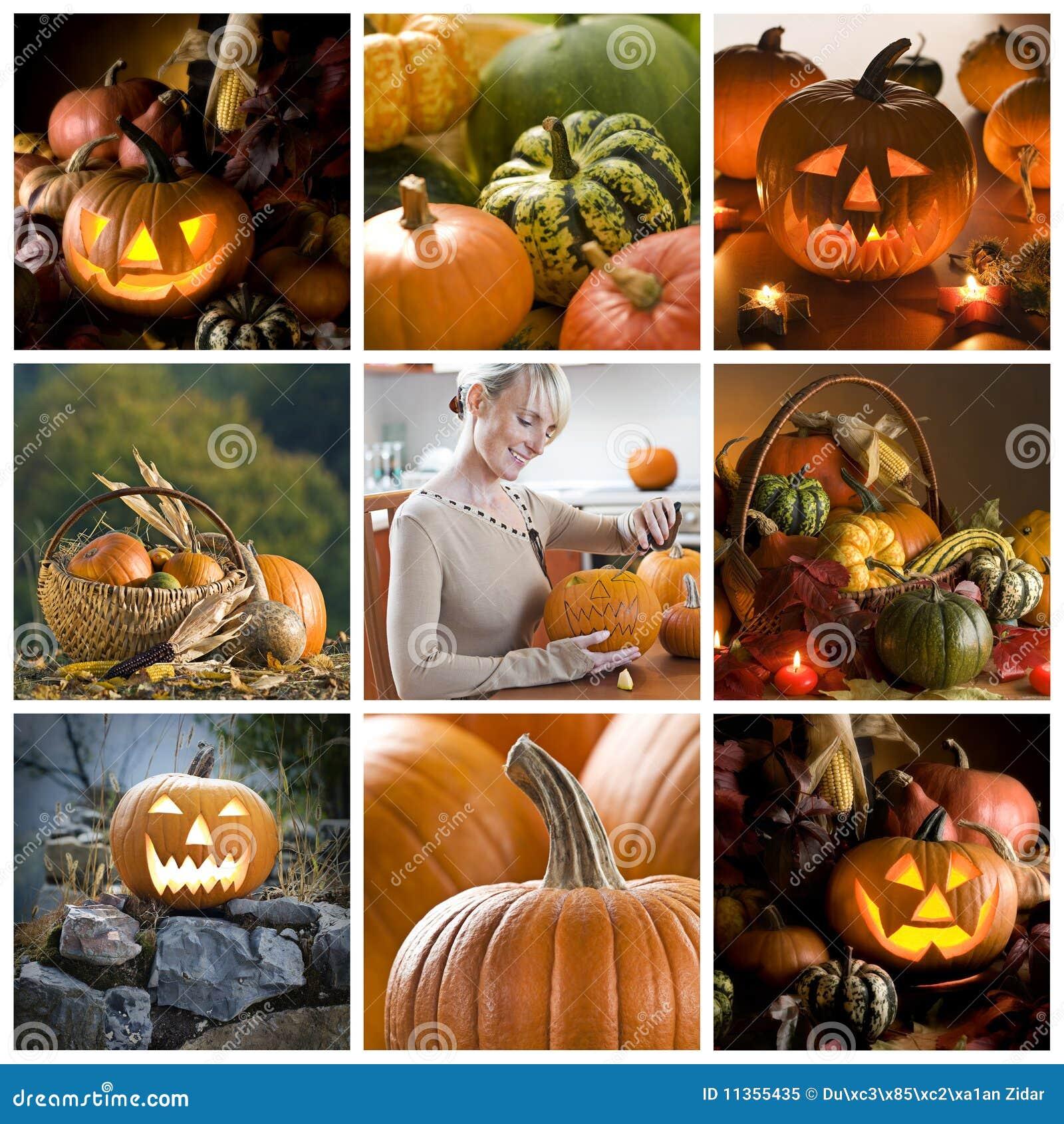 Colagem de Halloween