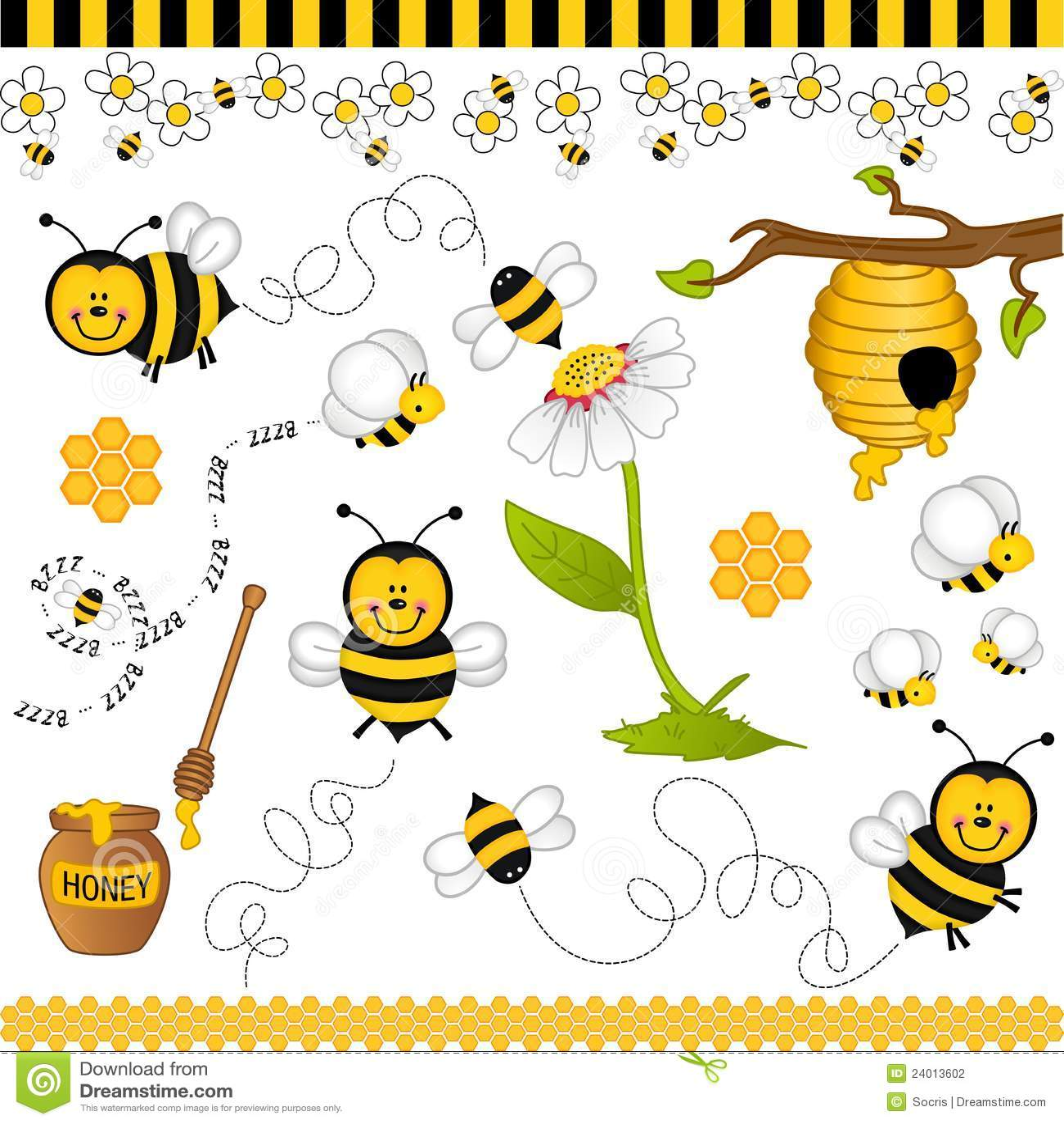 Пчелы и мед картинки
