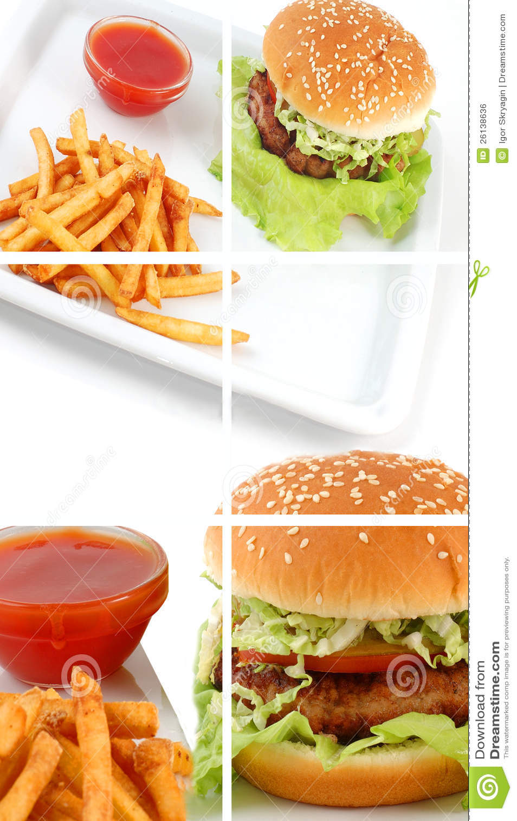 Colagem do cheeseburger
