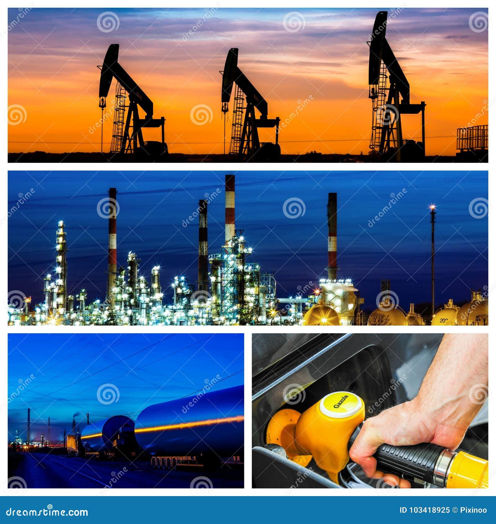 Colagem do poder e os conceitos e os produtos da energia
