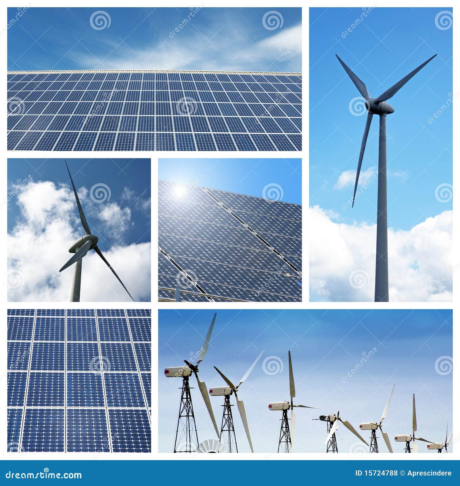 Colagem verde da energia