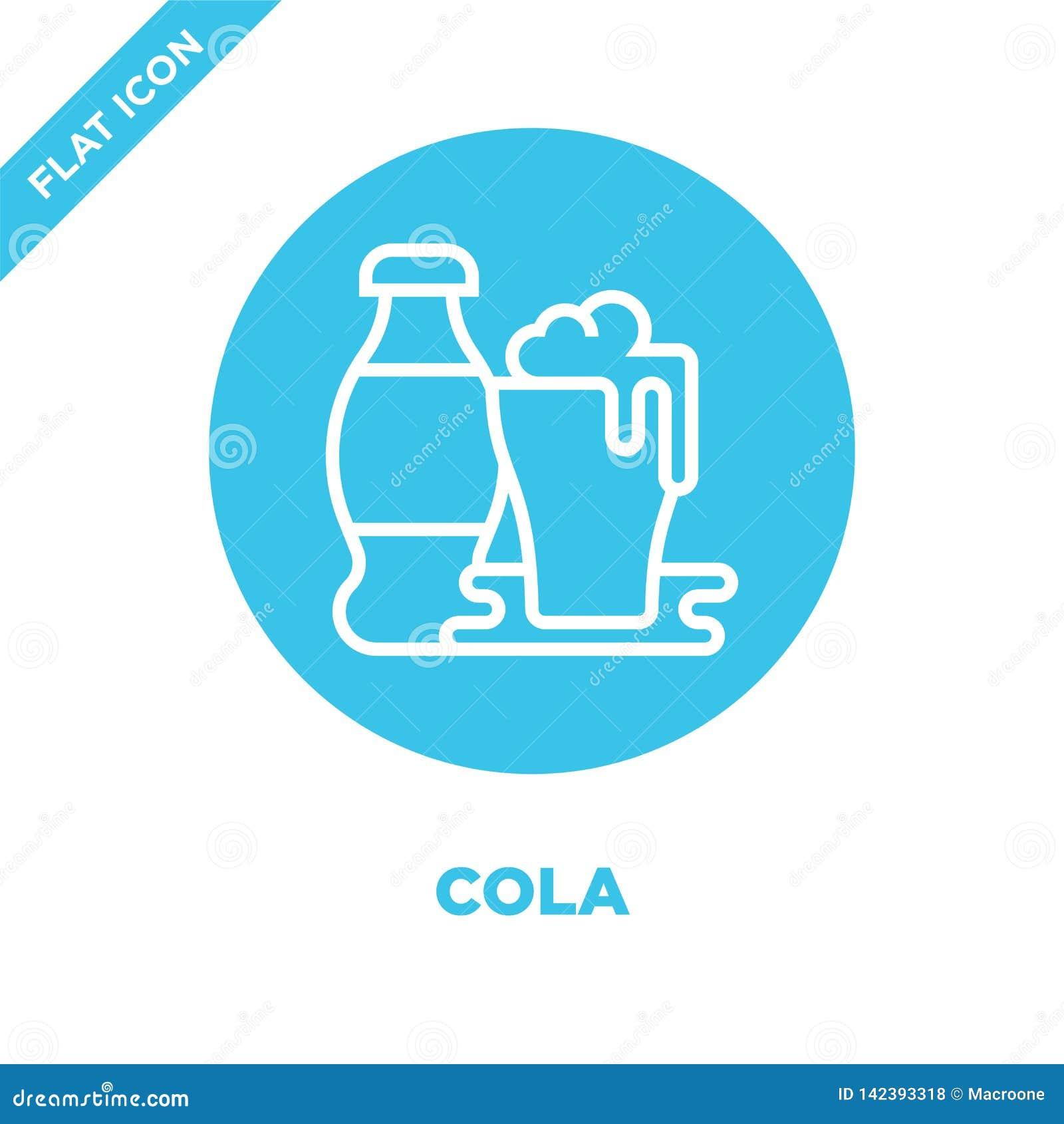 Colasymbolsvektor från drycksamling Tunn linje illustration för vektor för colaöversiktssymbol Linjärt symbol för bruk på rengöri