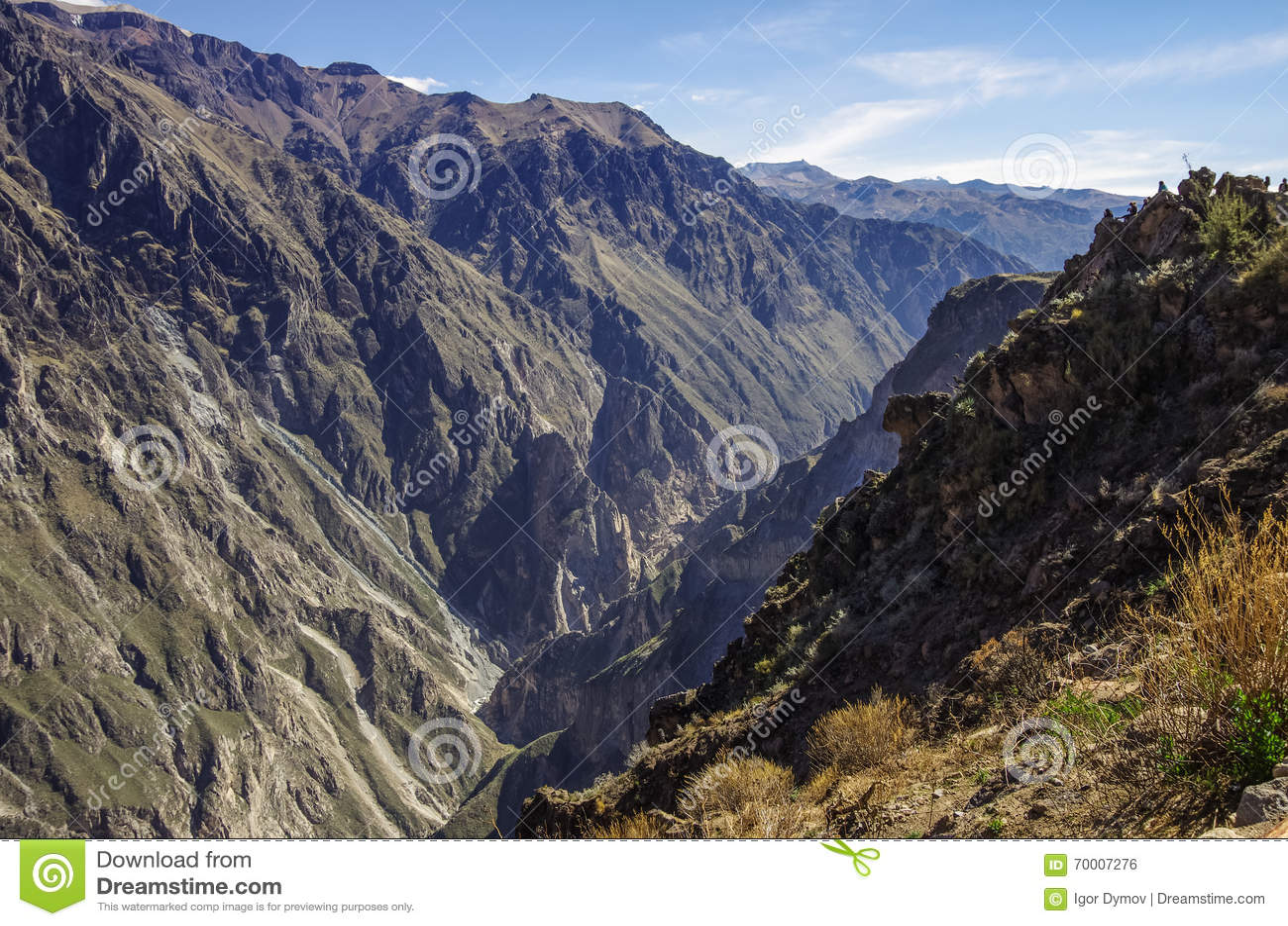 Colcacanion dichtbij Cruz Del Condor-gezichtspunt