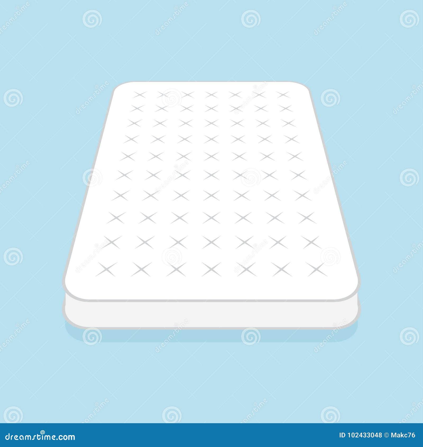 Colchón blanco llano
