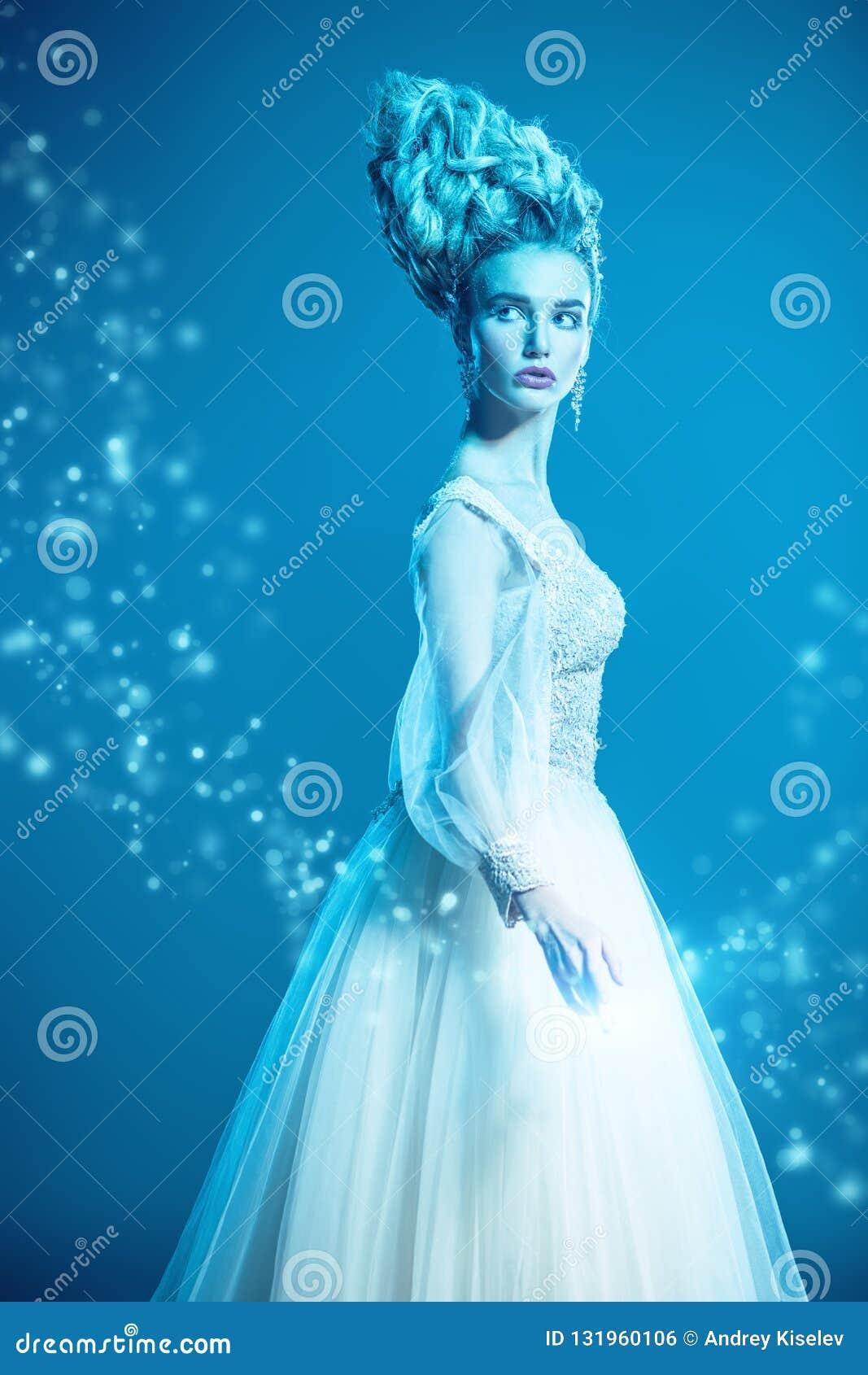 Cold beautiful lady