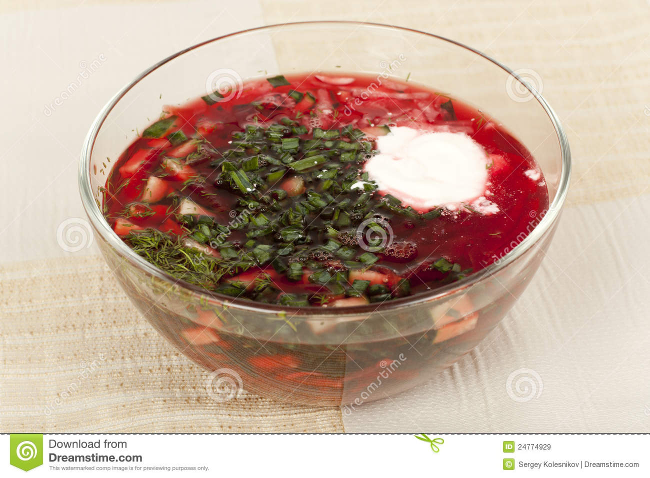 Cold Beet Soup Royalty Free Stock Images - Image: 24774929