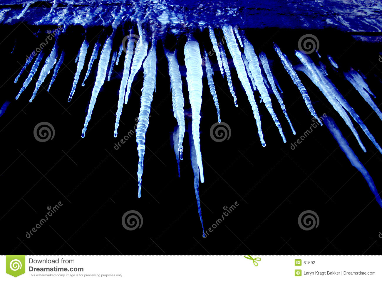 Cold blue icicles
