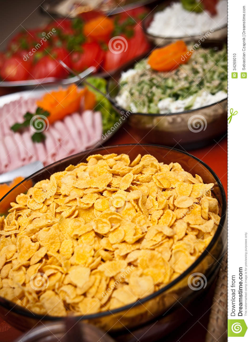 Cold Buffet Stock Photo Image 34269010