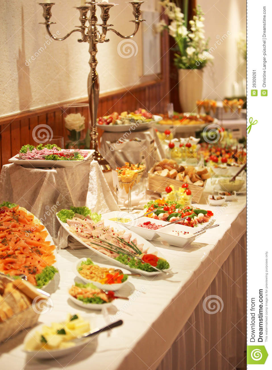 Cold Buffet Display Stock Image Image Of Buffet Catered