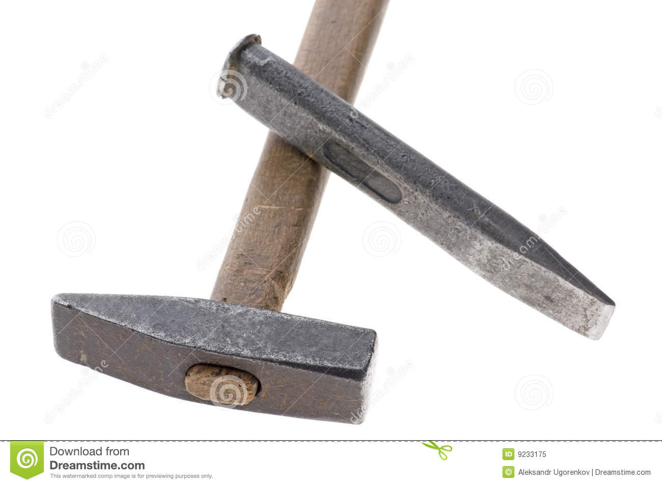 chisel and hammer. cold chisel and hammer e