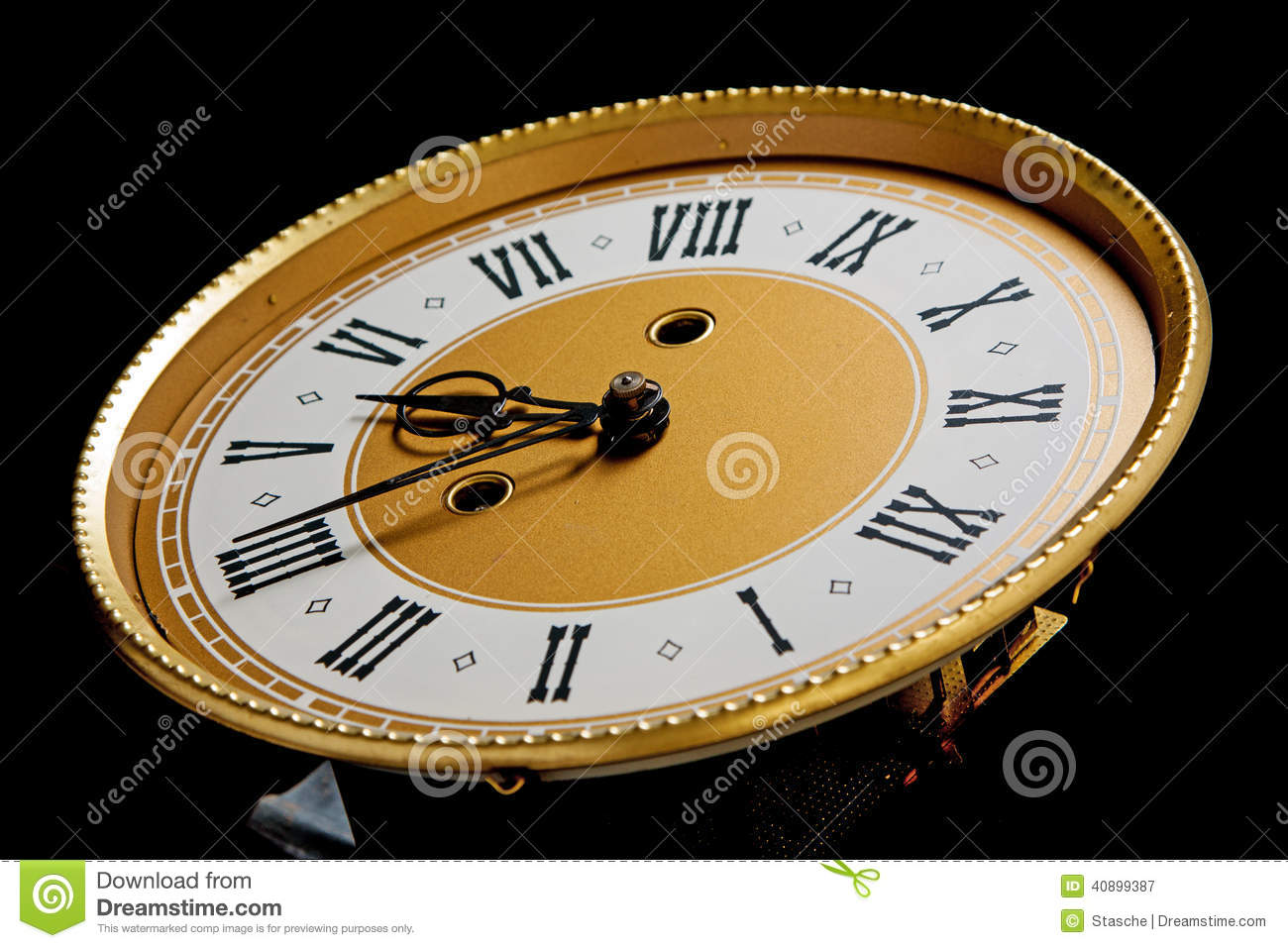 Old Clock Face Stock Photo Image 40899387