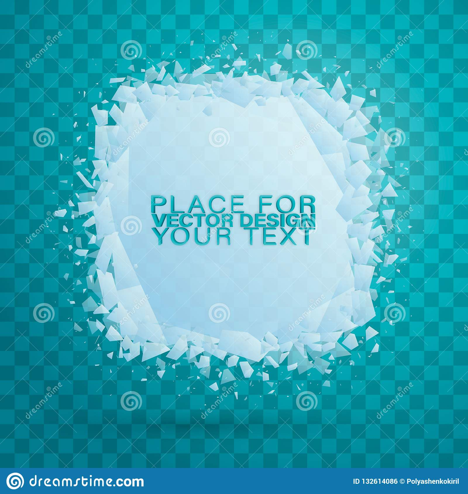185a4cbc7b12 Cold crystals frame. Crystal frozen structure. Vector frozen ice icicle frames  for sale or winter school isolated on blue background.
