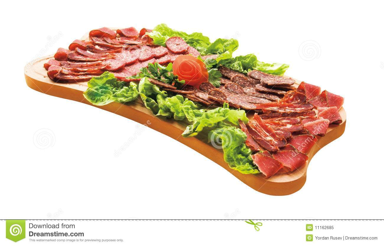 Download Cold Cuts On Plateau. Gourmet Food. Stock Image - Image of delicious, cooking: 11162685