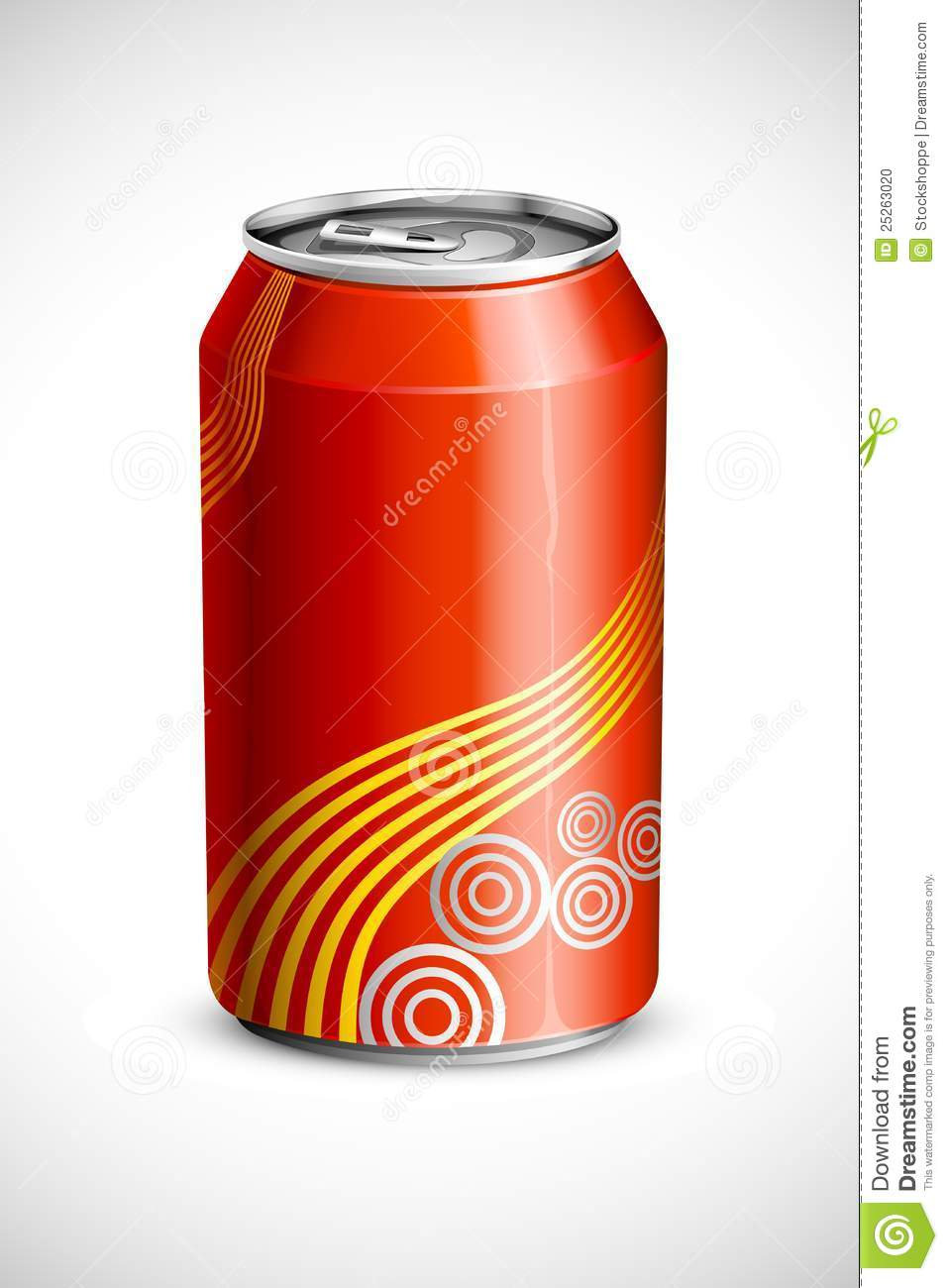 Drink Can From Blank Aluminum Stock Photo: Cold Drink Can Stock Vector. Illustration Of Canned, Cola