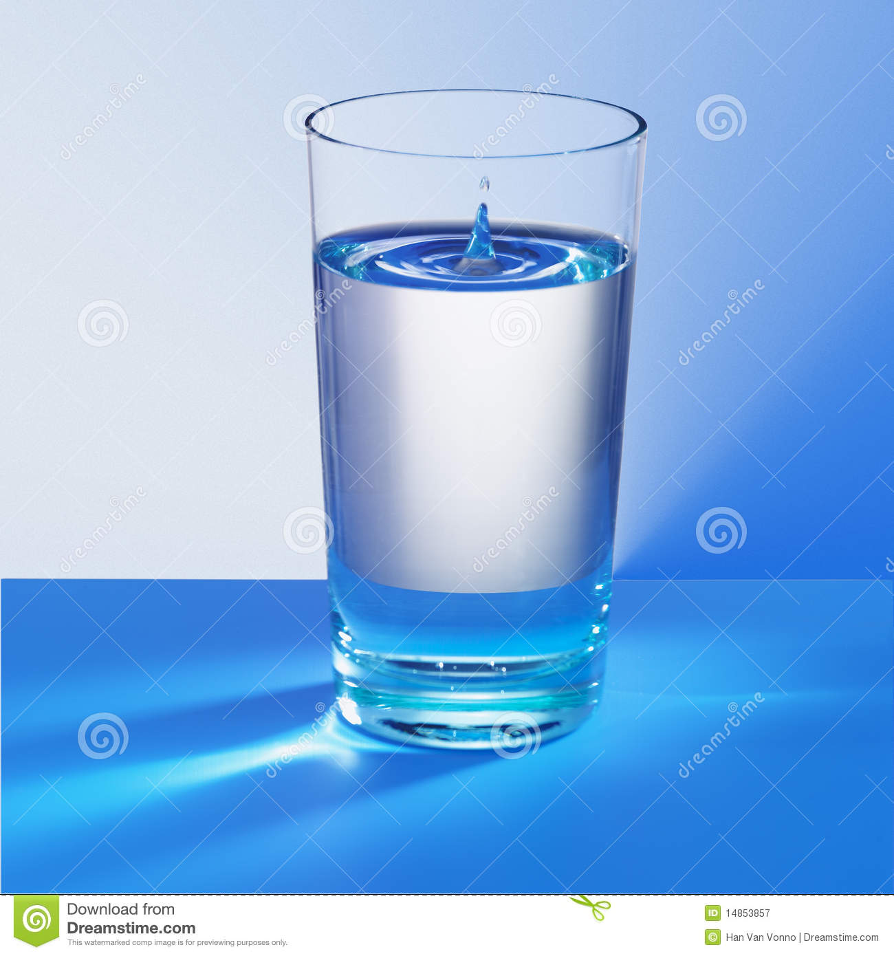 Cold Glass Of Blue Water Royalty Free Stock Photography ...
