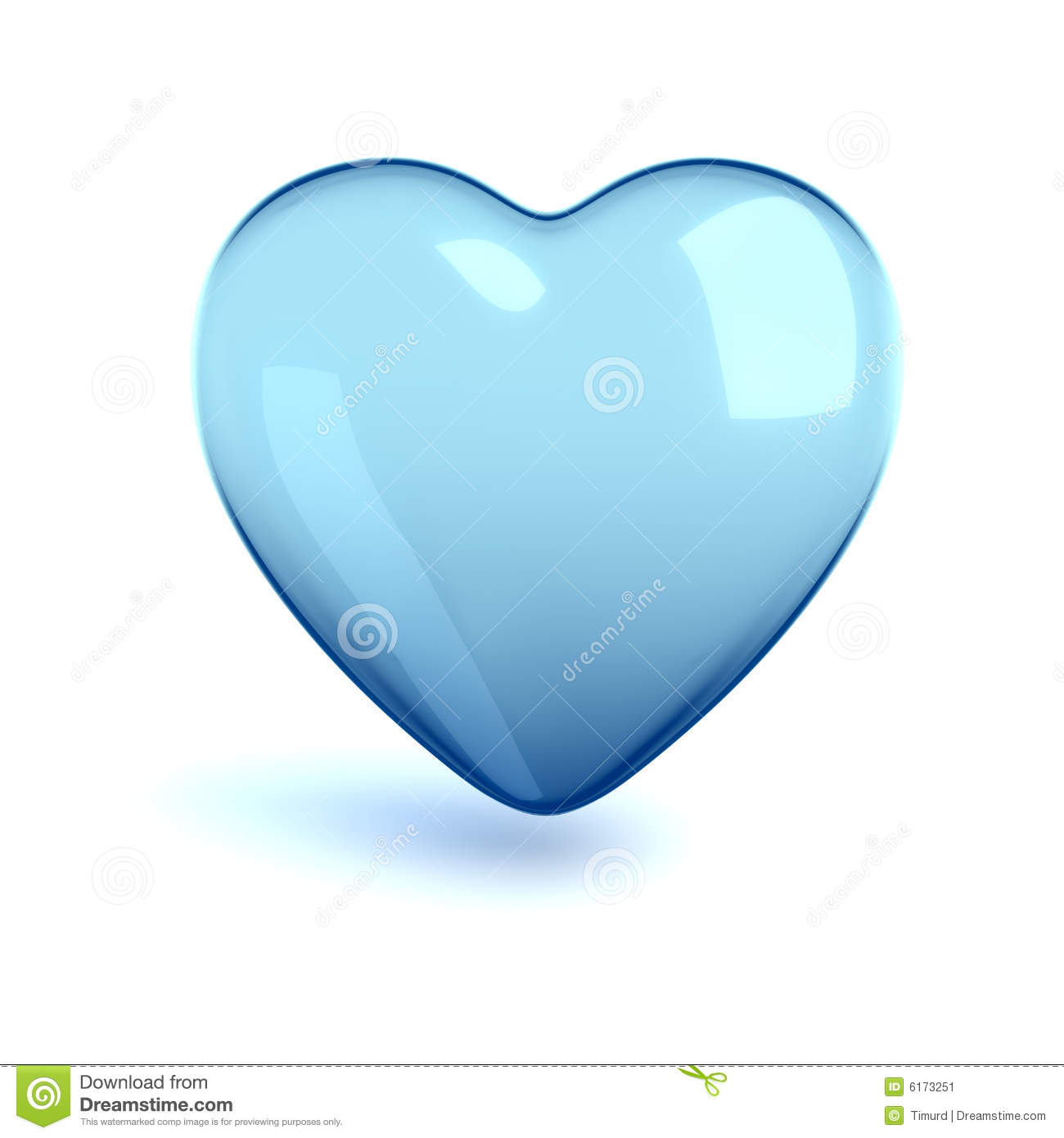 Cold Glass Heart Stock Image - Image: 6173251