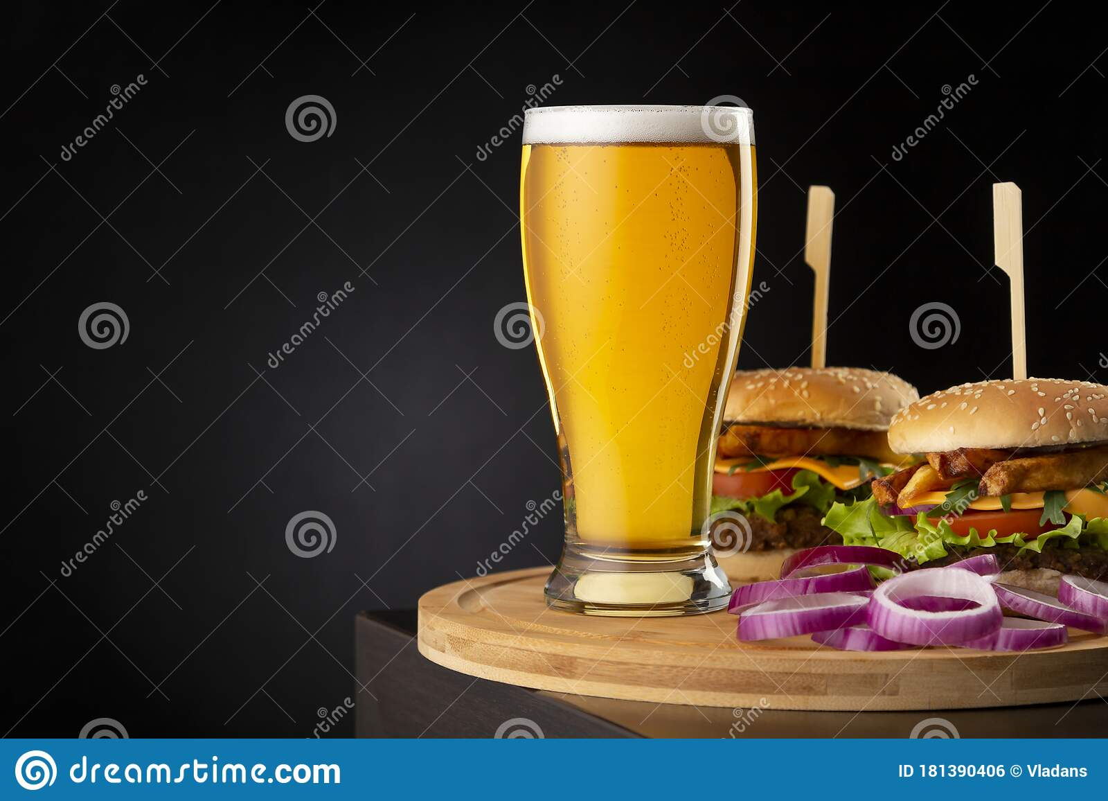 Beer And Burgers Stock Photo Image Of Burger Close 181390406