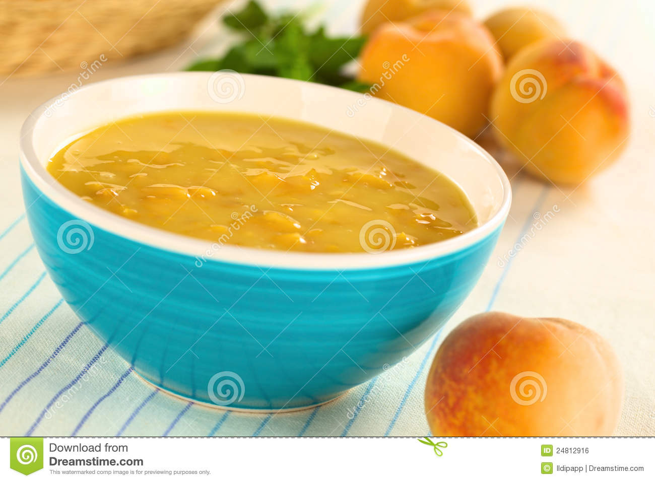 Cold Peach Soup Royalty Free Stock Image - Image: 24812916