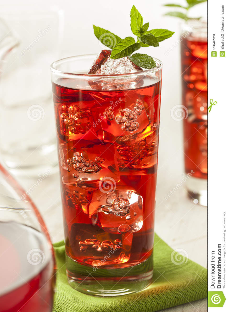 Cold Refreshing Berry Hibiscus Ice Tea Royalty Free Stock Photos ...