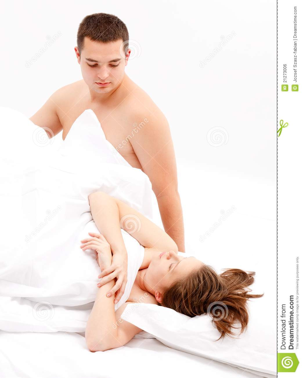 cold relation between couple in bed royalty free stock image image 21273006. Black Bedroom Furniture Sets. Home Design Ideas