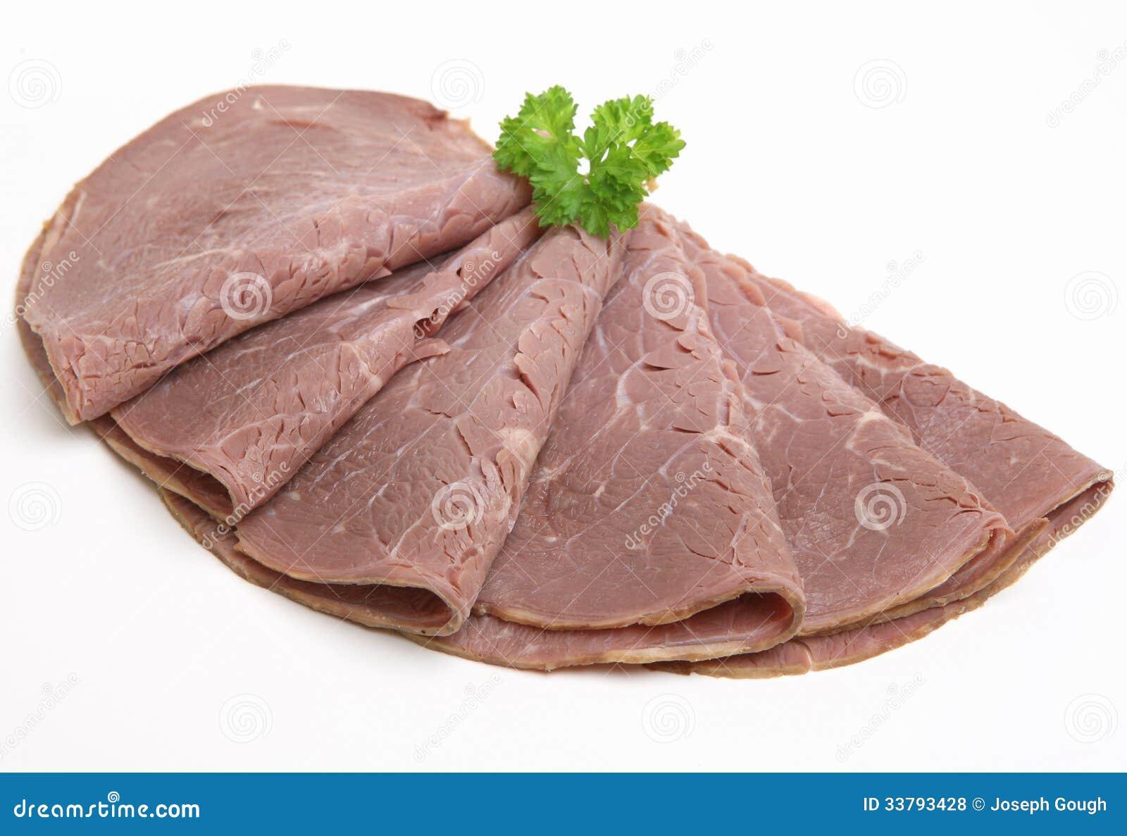 Sliced roast beef package - Arranged Beef Cold Fan Isolated Meat Roast Sliced