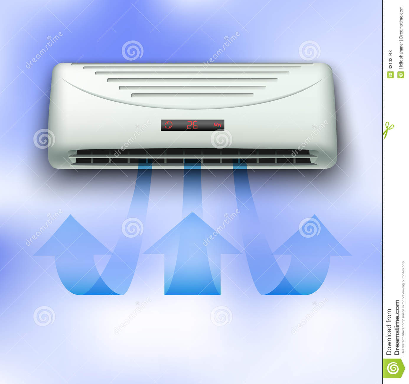 Cold Stream Coming From Air Conditioner Royalty Free Stock