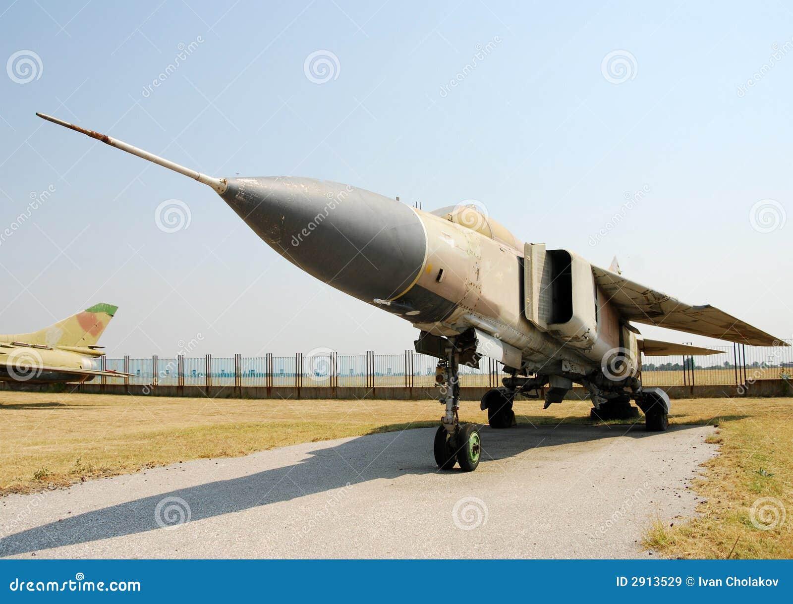 Cold war era jet fighter