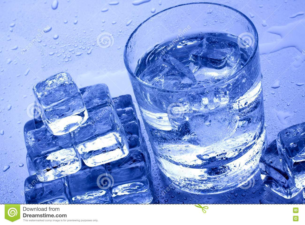 Cold Water And Ice Cubes Stock Photography - Image: 13580982
