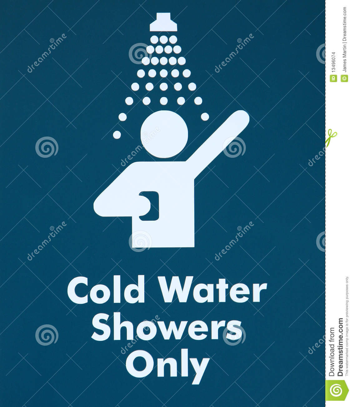 Cold Water Shower - sign stock photo. Image of hygiene - 13496074