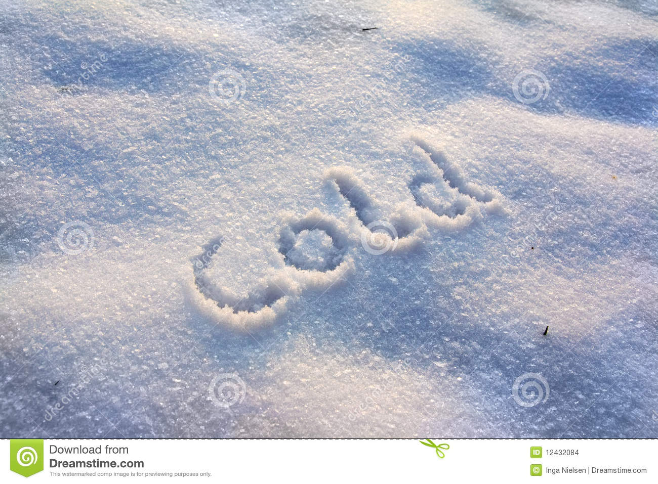 cold winter with snow stock images