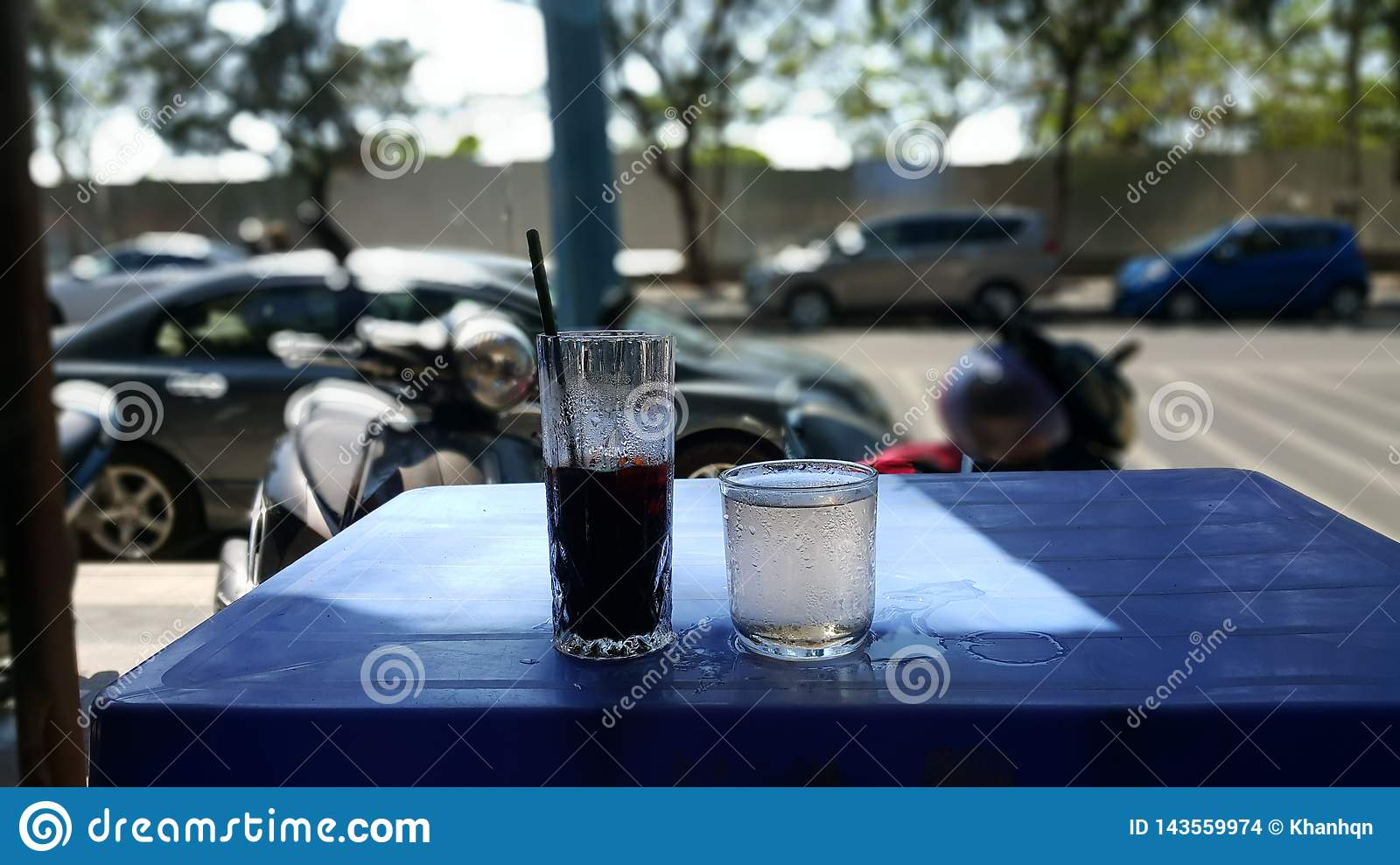 The colded coffee in Vietnam