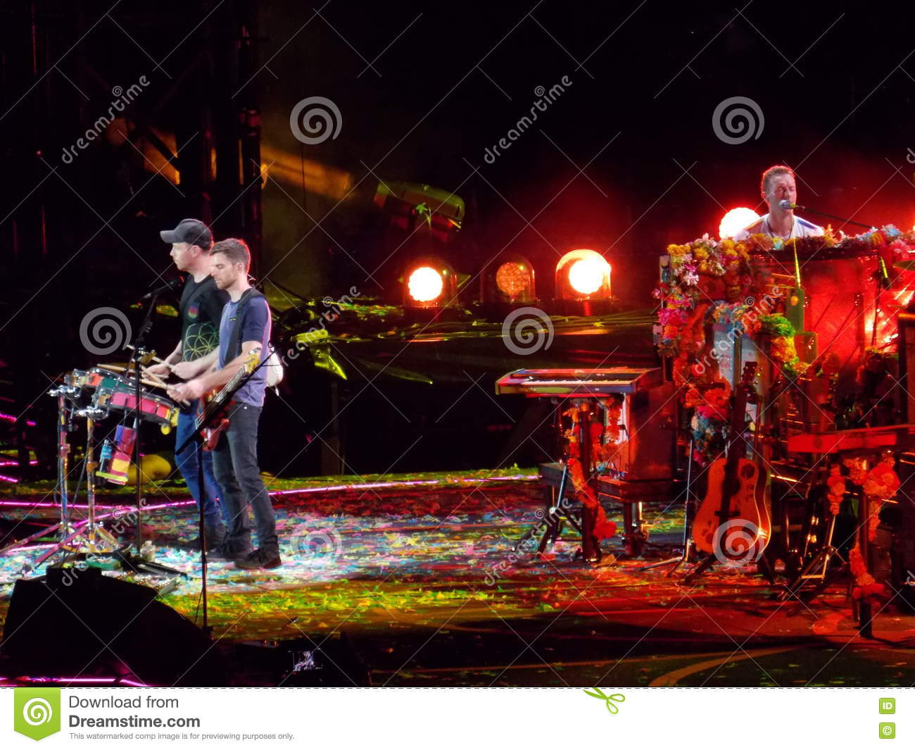 Coldplay in Concert editorial photo  Image of colorful