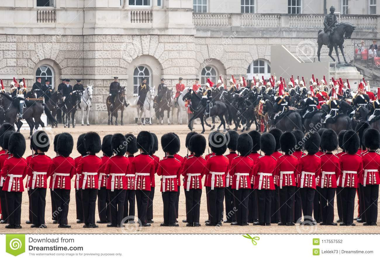 Coldstream Guards At The Trooping The Colour, Military