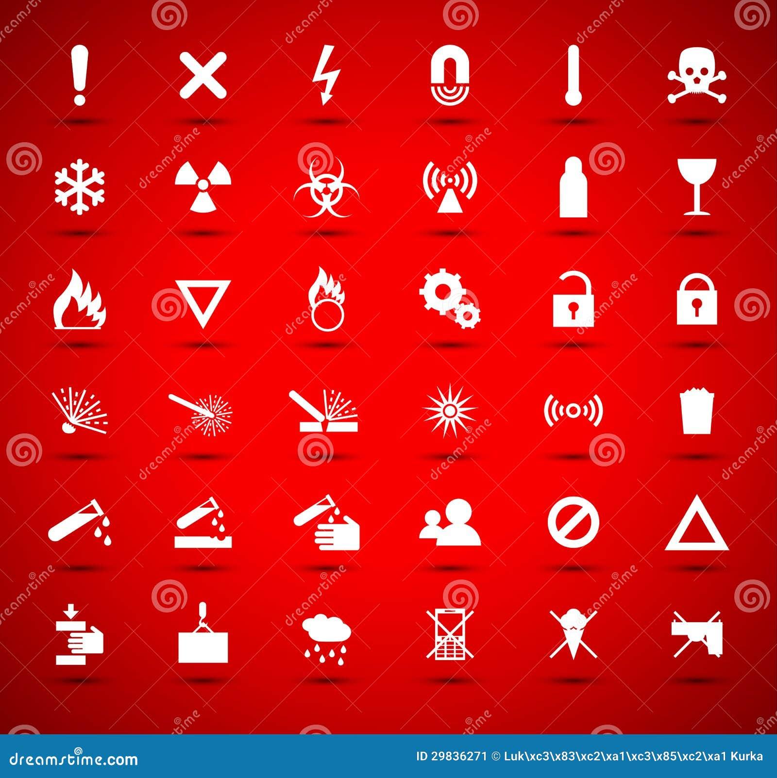 Coleção amarela dos sinais do aviso e do perigo
