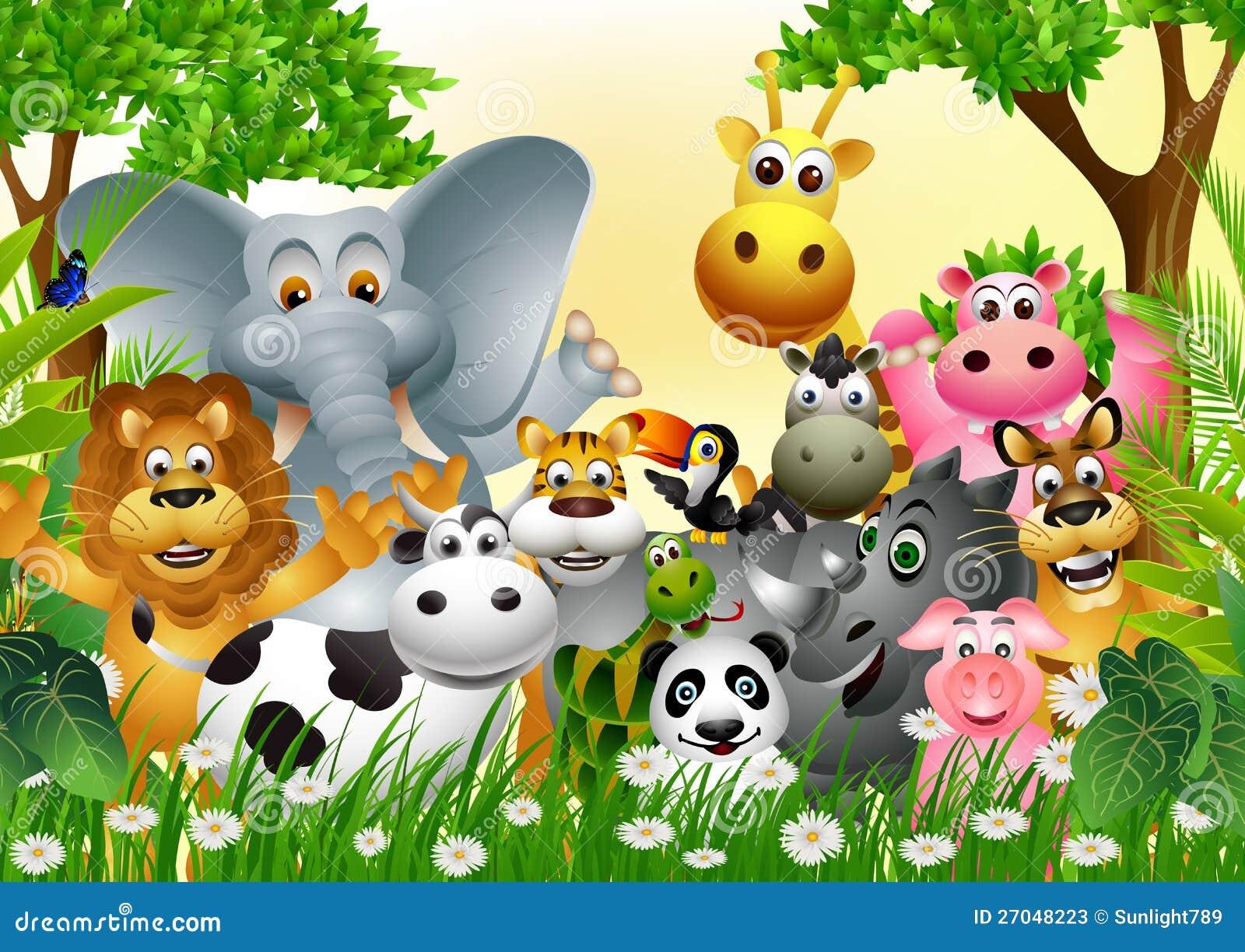 Colecao Animal Engracada Dos Desenhos Animados Dos Animais