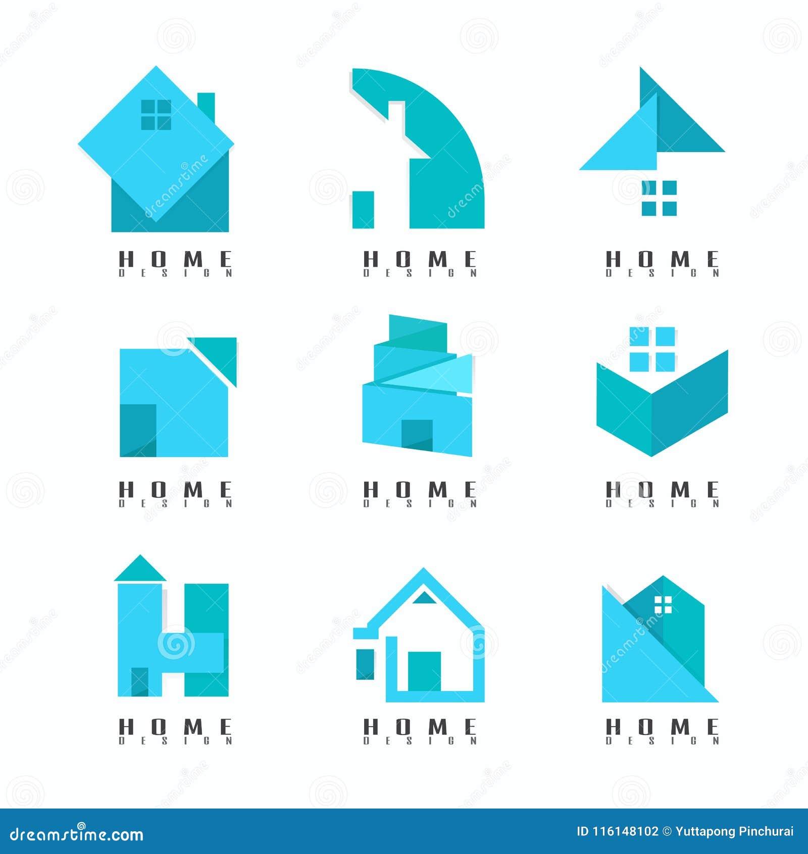 Coleção azul home de Logo Modern creativo Sumário Símbolo VE
