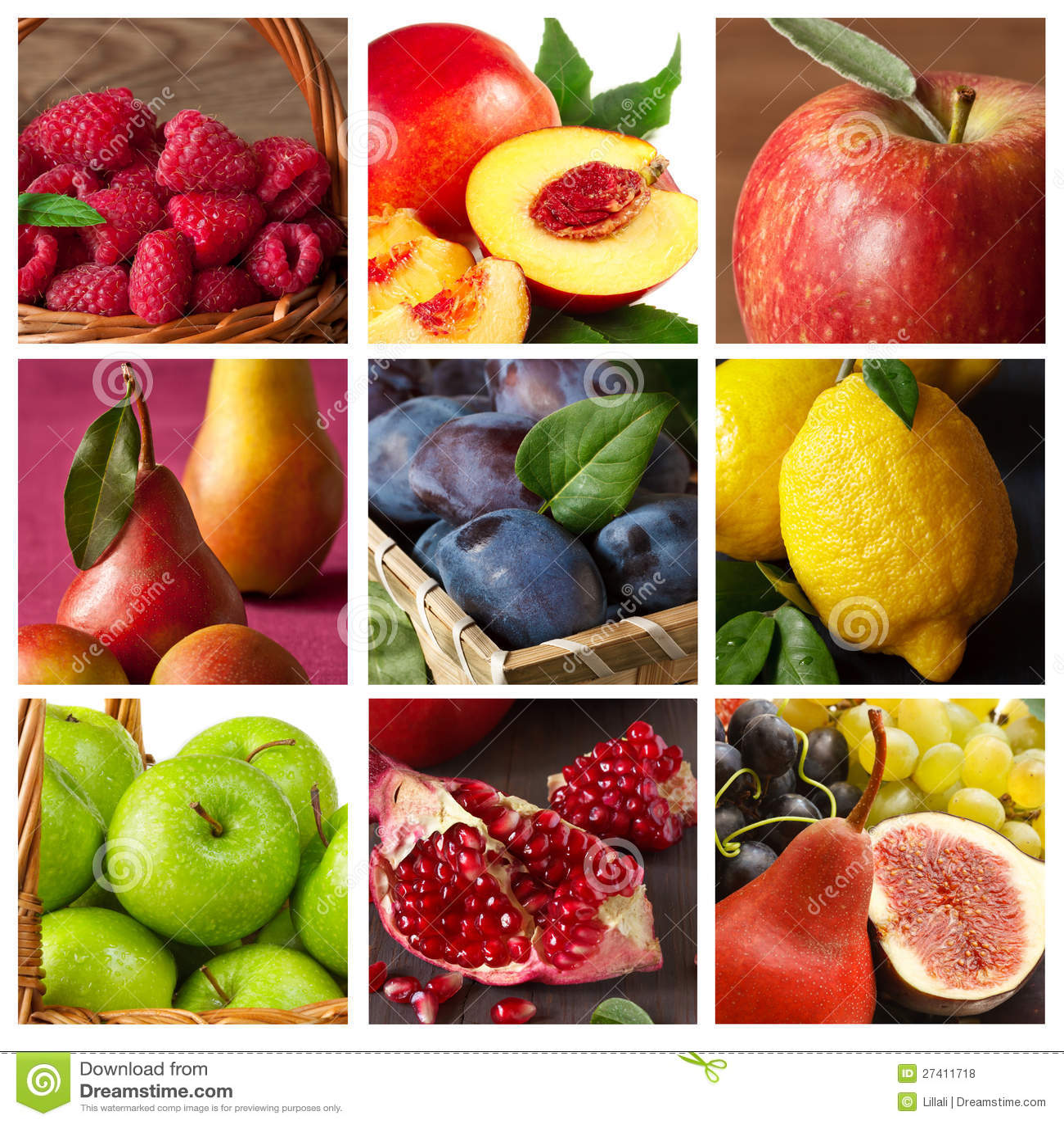 Coleção da fruta.