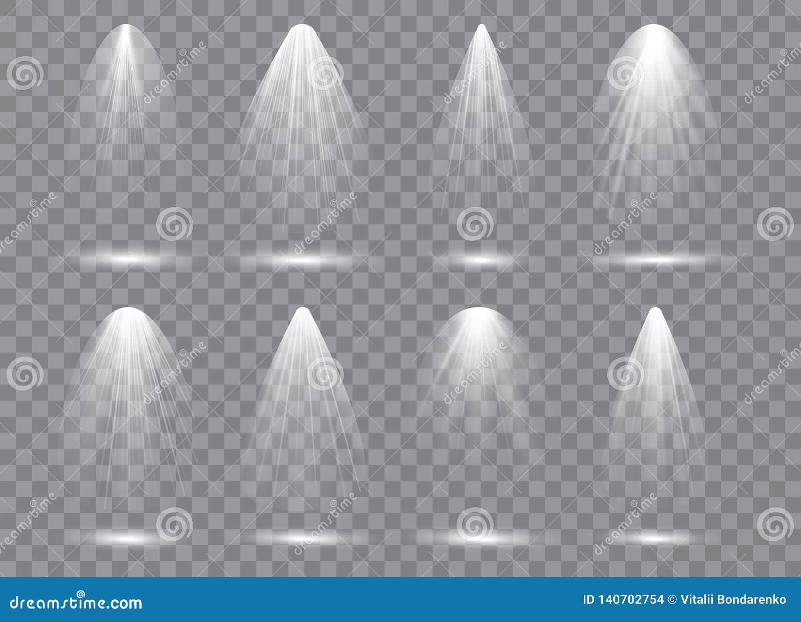 Coleção da iluminação da cena, efeitos transparentes Iluminação brilhante com projetores