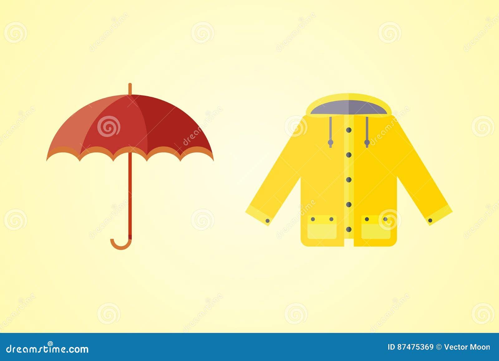 A coleção da roupa do outono ajustou artigos que a bolota da queda sae nuvens de chuva da árvore do tempo frio revestimento amare